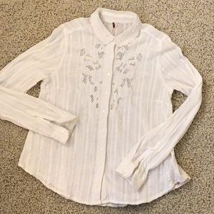 Free People lace and embroidered blouse